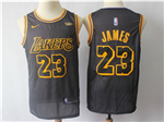 Los Angeles Lakers #23 Lebron James Black City Edition Swingman Jersey
