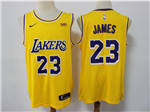 Los Angeles Lakers #23 Lebron James 2018/19 Gold Swingman Jersey