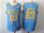 Los Angeles Lakers #23 Lebron James Throwback Light Blue Swingman Jersey