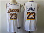 Los Angeles Lakers #23 Lebron James 2018/19 White Swingman Jersey
