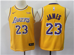Los Angeles Lakers #23 Lebron James 2018/19 Youth Gold Swingman Jersey