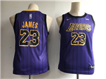 Los Angeles Lakers #23 Lebron James 2018/19 Youth Purple City Edition Swingman Jersey