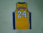Los Angeles Lakers #24 Kobe Bryant Youth Gold Jersey