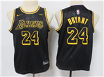 Los Angeles Lakers #24 Kobe Bryant Youth Black City Edition Swingman Jersey