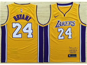 Los Angeles Lakers #24 Kobe Bryant Gold Black Mamba Swingman Jersey