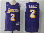 Los Angeles Lakers #2 Lonzo Ball Purple Hardwood Classic Jersey