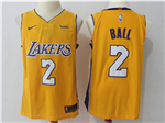 Los Angeles Lakers #2 Lonzo Ball 2017/18 Gold Jersey