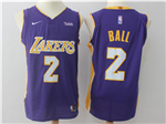 Los Angeles Lakers #2 Lonzo Ball 2017/18 Purple Jersey
