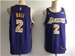 Los Angeles Lakers #2 Lonzo Ball 2017/18 Purple Swingman Jersey
