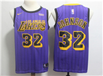 Los Angeles Lakers #32 Magic Johnson 2018/19 Purple City Edition Swingman Jersey