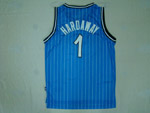Orlando Magic #1 Anfernee Hardaway Throwback Blue Jersey
