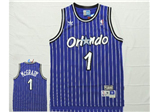 Orlando Magic #1 Tracy McGrady Blue Hardwood Classic Jersey
