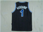 Orlando Magic #1 Anfernee Hardaway Throwback Black Jersey