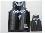 Orlando Magic #1 Tracy McGrady Black Hardwood Classic Jersey