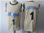 Orlando Magic #1 Anfernee Hardaway Cream Hardwood Classics Jersey