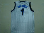 Orlando Magic #1 Anfernee Hardaway Throwback White Jersey