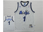 Orlando Magic #1 Tracy McGrady White Hardwood Classic Jersey