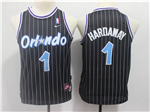 Orlando Magic #1 Anfernee Hardaway Youth Throwback Black Jersey
