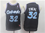 Orlando Magic #32 Shaquille O'Neal Youth Throwback Black Jersey