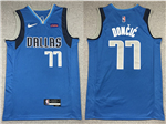 Dallas Mavericks #77 Luka Dončić Blue Swingman Jersey