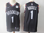 Brooklyn Nets #1 D'Angelo Russell 2018/19 Black City Edition Swingman Jersey