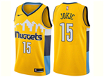 Denver Nuggets #15 Nikola Jokić 2017/18 Gold Swingman Jersey