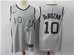 San Antonio Spurs #10 DeMar DeRozan Gray Swingman Jersey