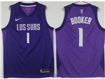 Phoenix Suns #1 Devin Booker Purple City Edition Swingman Jersey