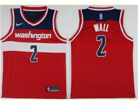 Washington Wizards #2 John Wall Red Swingman Jersey