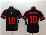 San Francisco 49ers #10 Jimmy Garoppolo Youth Black Vapor Untouchable Limited Jersey