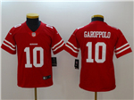 San Francisco 49ers #10 Jimmy Garoppolo Youth Red Vapor Untouchable Limited Jersey