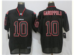 San Francisco 49ers #10 Jimmy Garoppolo Black Lights Out Elite Jersey