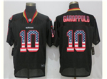 San Francisco 49ers #10 Jimmy Garoppolo Black USA Flag Fashion Elite Jersey