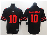 San Francisco 49ers #10 Jimmy Garoppolo Black Vapor Untouchable Limited Jersey