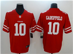 San Francisco 49ers #10 Jimmy Garoppolo Red Vapor Untouchable Limited Jersey