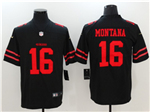 San Francisco 49ers #16 Joe Montana Black Vapor Untouchable Limited Jersey