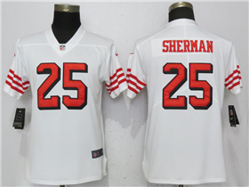 San Francisco 49ers #25 Richard Sherman Women's White Color Rush Limited Jersey