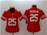 San Francisco 49ers #25 Richard Sherman Women's Red Vapor Untouchable Limited Jersey