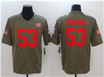 San Francisco 49ers #53 NaVorro Bowman 2017 Olive Salute To Service Limited Jersey