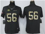 San Francisco 49ers #56 Reuben Foster Anthracite Women's Salute to Service Jersey