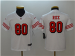San Francisco 49ers #80 Jerry Rice Youth White Color Rush Limited Jersey