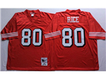 San Francisco 49ers #80 Jerry Rice 1994 Throwback Red Jersey
