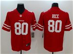 San Francisco 49ers #80 Jerry Rice Red Vapor Untouchable Limited Jersey