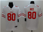 San Francisco 49ers #80 Jerry Rice White Vapor Untouchable Limited Jersey