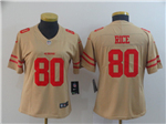 San Francisco 49ers #80 Jerry Rice Women's Gold Inverted Limited Jersey