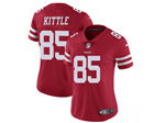 San Francisco 49ers #85 George Kittle Women's Red Vapor Limited Jersey