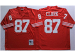 San Francisco 49ers #87 Dwight Clark Throwback Red Jersey
