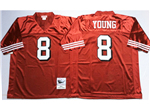 San Francisco 49ers #8 Steve Young 1994 Throwback Red Jersey