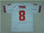 San Francisco 49ers #8 Steve Young White Throwback Jersey