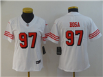 San Francisco 49ers #97 Nick Bosa Women's White Color Rush Limited Jersey